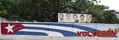 Political marketing for five Cuban spies Havana 2010